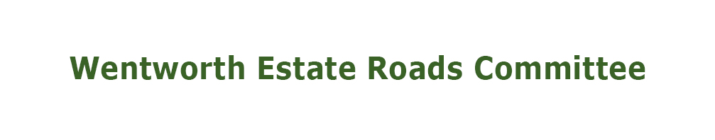 Wentworth Estate Roads Committee